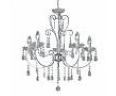 WOFI Lámpara de araña de cristal ARIZONA de 5 llamas