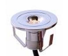Deko-Light Pequeña lámpara empotrada LED Punto Lumi, cromada