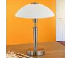 EGLO Lámpara de mesilla de noche Salut, níquel, blanco