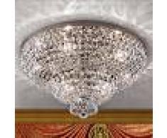 Orion Lámpara de techo de cristal Sheraton en cromo