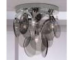 Orion Lámpara de techo Carolo, cristal ahumado, 4 brazos
