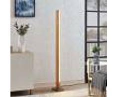 Lucande Lámpara de suelo LED Tamlin de madera, color haya