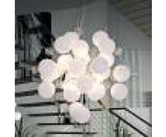 Näve Lámpara colgante Explosion en blanco/cromo, 65 cm