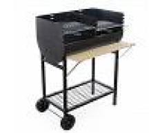 Royal Food Barbacoa de carbón CB 300 con parrilla doble - Superficie de cocción 66x40