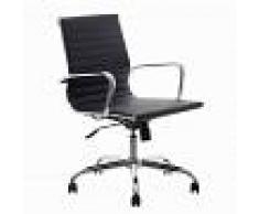 Design Mobiliario silla oficina réplica Eames negra baja