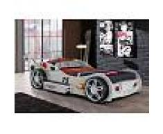 Venta-unica Cama coche RUNNER con cajón - 90x200 cm - Blanco
